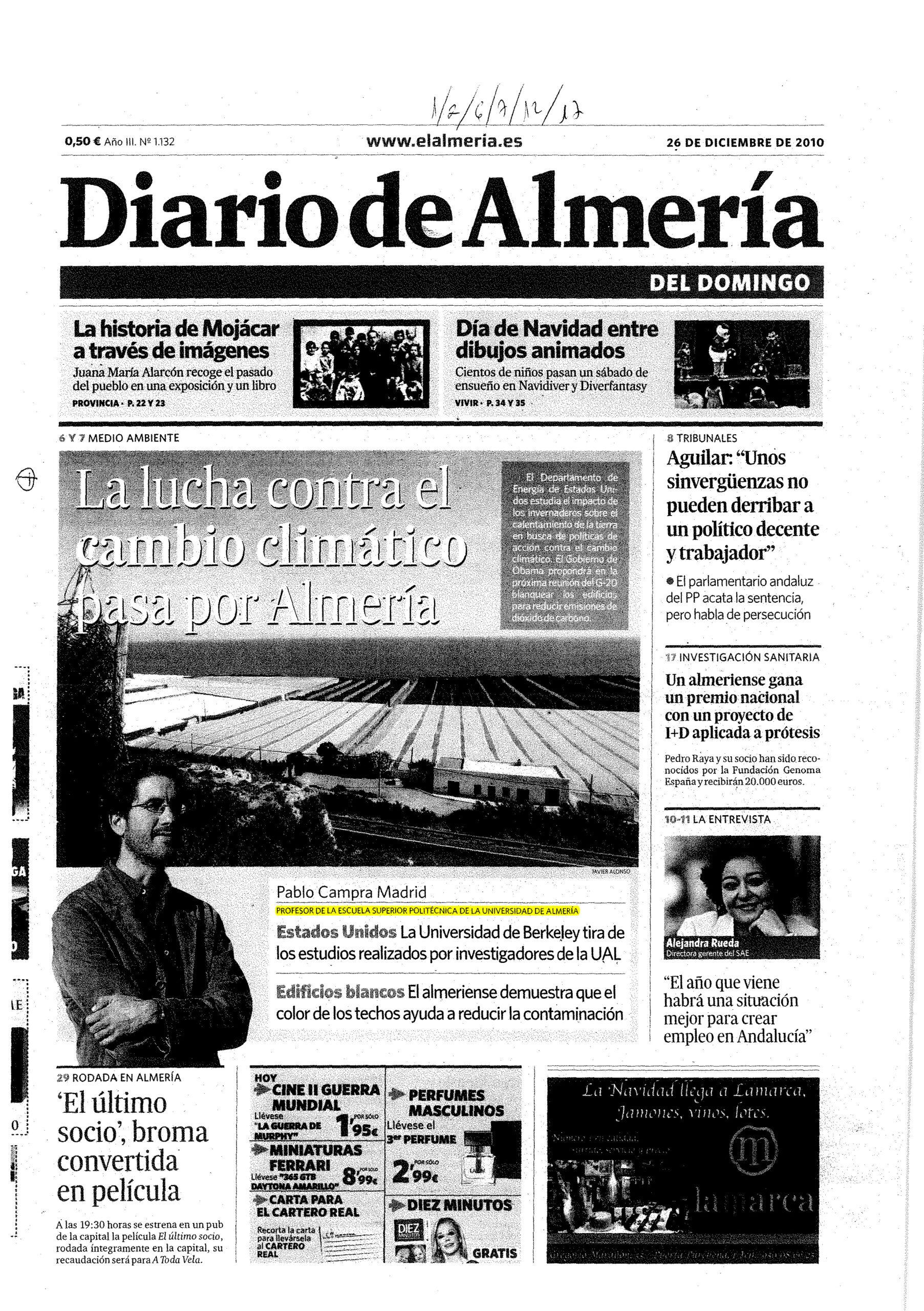 Pablo Campra Madrid, la universidad de Almería y el análisis de las vacunas «con grafeno»